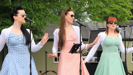 Entertainment from the Bluebird Belles, with authentic war-time musical numbers. PICTURE: Clive Port
