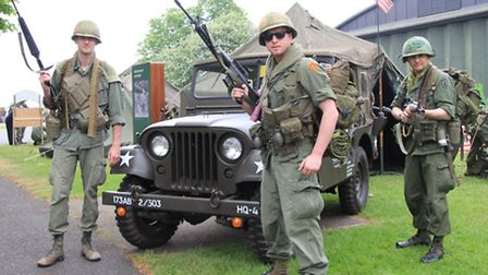 The platoon ready for action. Part of the Rolling Thunder Living History team. PICTURE: Clive Porter