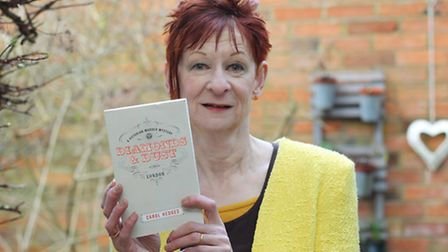 """Carol Hedges with her latest book """"Diamonds & Dust"""""""