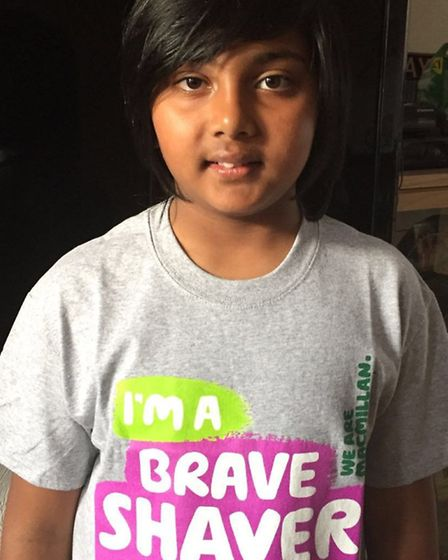 Santhosh Murukathasan took part in the Brave the Shave campaign
