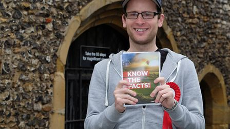 Campaigner for 'Vote Leave' Nathan Draper in St Albans