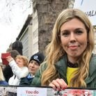 Activist Carrie Symonds takes part in an anti-whaling protest outside the Japanese Embassy in centra