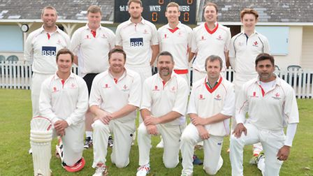 The Godmanchester team beaten by Wisbech yesterday are, back row, left to right, Matt Durrant, Ellio