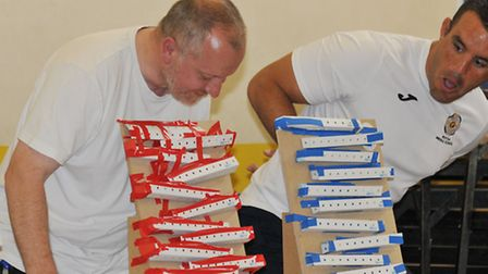After the teams' hard work, their marble runs are tested out at Roysia School