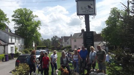 The walk was arranged to raise money for Romanian dog rescue charity Barking Mad.