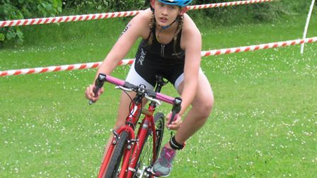 Beatrice Pauley of Huntingdon BRJ Run & Tri came second in her category at the Walden Junior Triathl