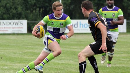 Sam Allen on his way to score his second try