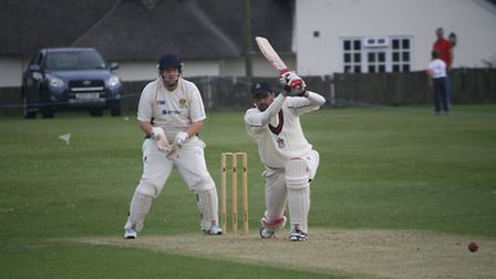 Max Kindred batting for Royston CC
