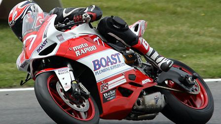 Jon Railton at Brands Hatch in the third round of the Ducati TriOptions Cup. Picture: NIGEL SHEARING