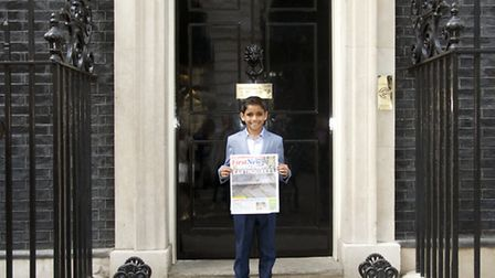 Alex Garcia Ghuran outside Number 10 Downing Street