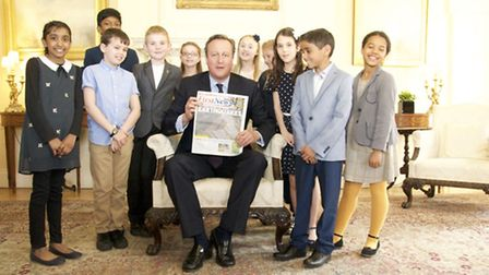 David Cameron and the First News winners