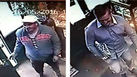 CCTV images from Hyperion Antique Centre in St Ives