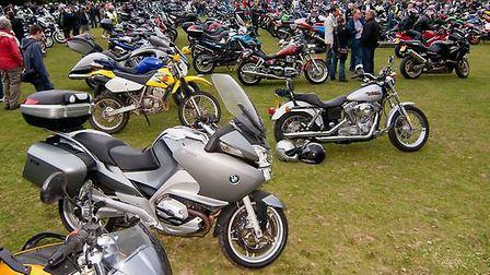 The main paddock at the Royston Motorcycle Club Bike Show IN 2011.