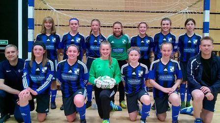 St Ives Rangers Under 14 Girls played in the regionall finals of the FA National Youth Futsal Festiv