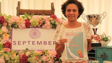 Winner of the Best Dressed Stand was Kenia Hatfield of September Flowers one of the newest businesse