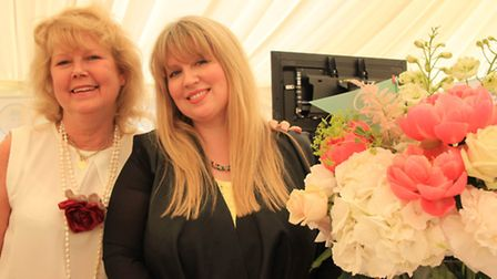 Claire Wigg and assistant Debbie Coningsby from Beautiful Balloons. PICTURE: Clive Porter