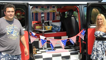 The uniquely redesigned interior of this 1984 Ford Camper is the pride and joy of Kevin and Sharon C