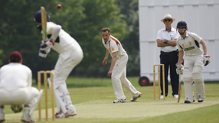 S Booth bowling for Wheathampstead