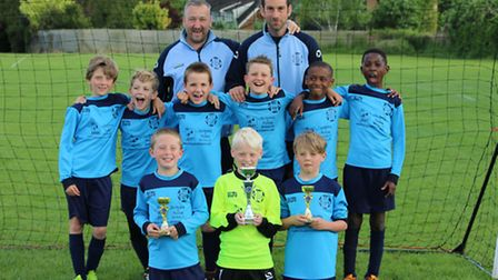 Melbourn Dynamos FC win the cup