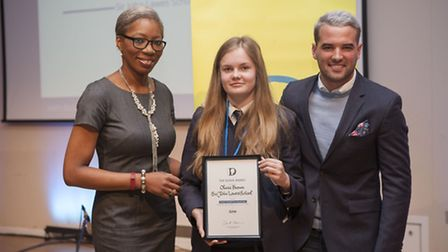 Tessy Ojo, CEO The Diana Awards, Olivia Brown and Ricky Rayment from TOWIE