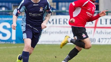 Josh Dawkin on the ball for St Neots Town last season. Picture: CLAIRE HOWES