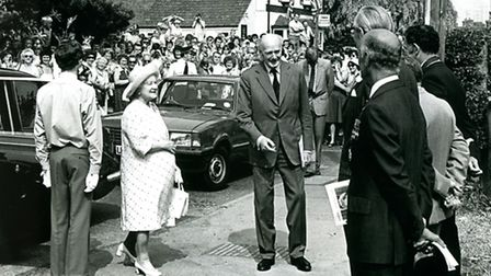 Old pix of Kimpton's links with the Queen Mother