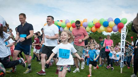 People of all different ages joined in to raise money for local schools and the Up on Downs charity