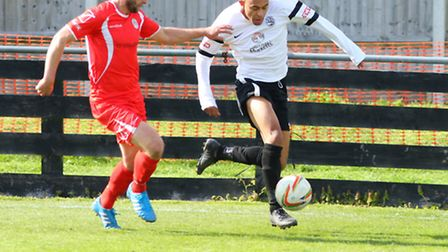 Rhys Hoenes has become St Albans City's seventh summer signing. Picture: TOM SHARP