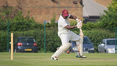 Dario Cummins hit an unbeaten century as Huntingdon & District tied with Fordham. Picture: SEAN HICK