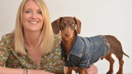 Amazon shortlisted dog, Bob, and owner Collette Thompson, from Godmanchester
