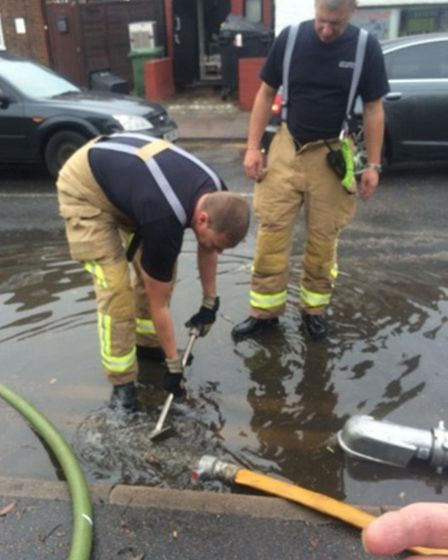 St Albans fire service were on hand to help - picture from Suzi Clark