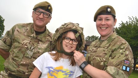 Riverside Gala, Huntingdon, (l-r) Sgt John Bland, Molly from St Ives, and Sgt Kelly Laherty, from AC
