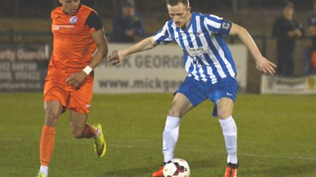 Robert Ducket (right) is one of several important players to commit to Eynesbury Rovers for next sea