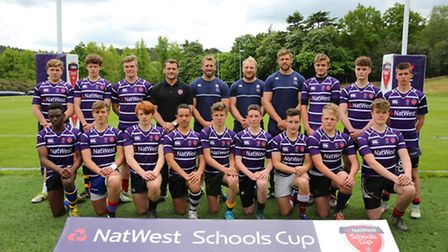 The U15 team at the NatWest Schools Cup Academy Day which included St Albans School's Alo-Oluwa Oluk