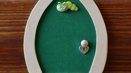 Wooden green fairy door from allpartythings.co.uk