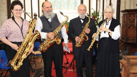 The RMC Saxophone Quartet entertained in All Saints Church. PICTURE: Clive Porter