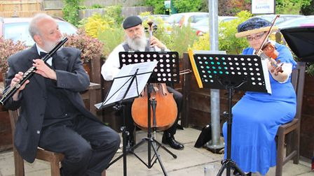 Lunch time Edwardian music at the Dolphin. PICTURE: Clive Porter.