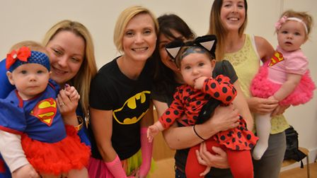 Loves Farm Sensory class for babies, holding a sponsored event and dressing up as superheros, with