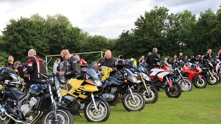 Bikers lined up. PICTURE: Clive Porter.