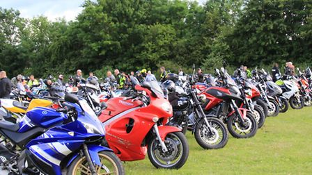 The bikes lined up. PICTURE: Clive Porter.