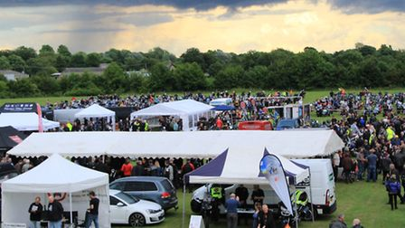 Crowds at the Royston Motorcycle Show. PICTURE: Clive Porter.