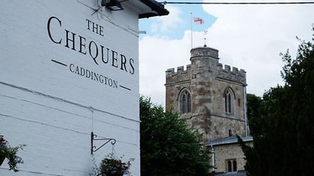The Chequers is well placed, beside the village green