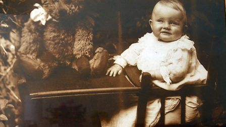 Irene Wallace as an infant.