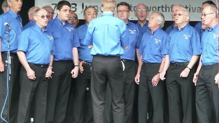 King of Herts Barbershop choir at Letchworth Festival in 2013