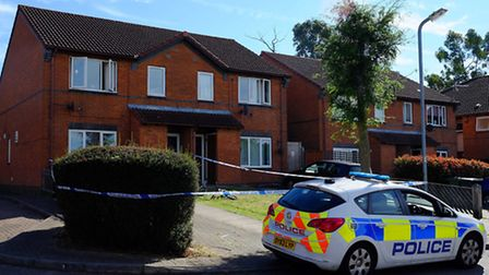 The police have cordoned off a house on Artisan Crescent after a double stabbing