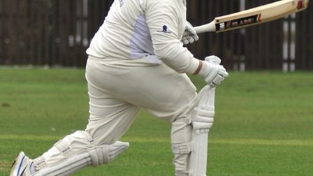 Taylor West, pictured batting, starred with the ball for Ramsey in their victory at bottom side Blun