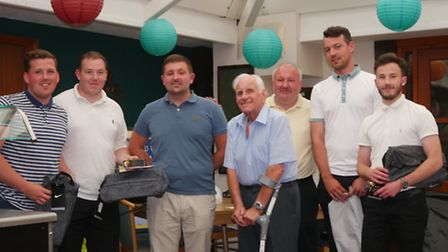 Third place team Adam Jogn, Will Keen, Danny Price, Matt Macdonald, being presented with their prize