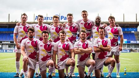 Harpenden's sevens squad that just missed out on qualification for the national 24/Sevens tournament