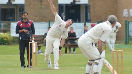 St Ives 2nds bowler Chris Parker took three wickets during his side's 95-run defeat against Milton l