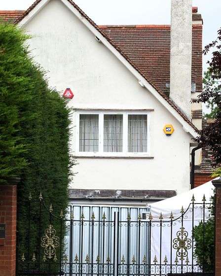 Police remain at the home of Helen Bailey as investigations continue.